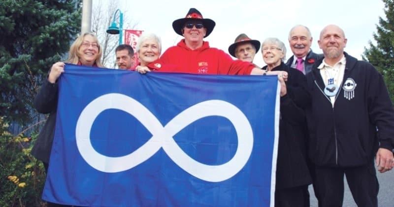 Blue Metis infinity flag