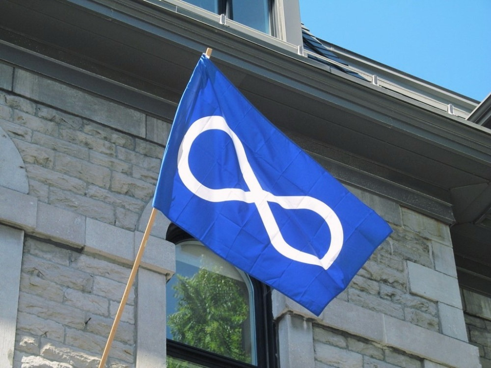 Blue flag of Metis Peoples