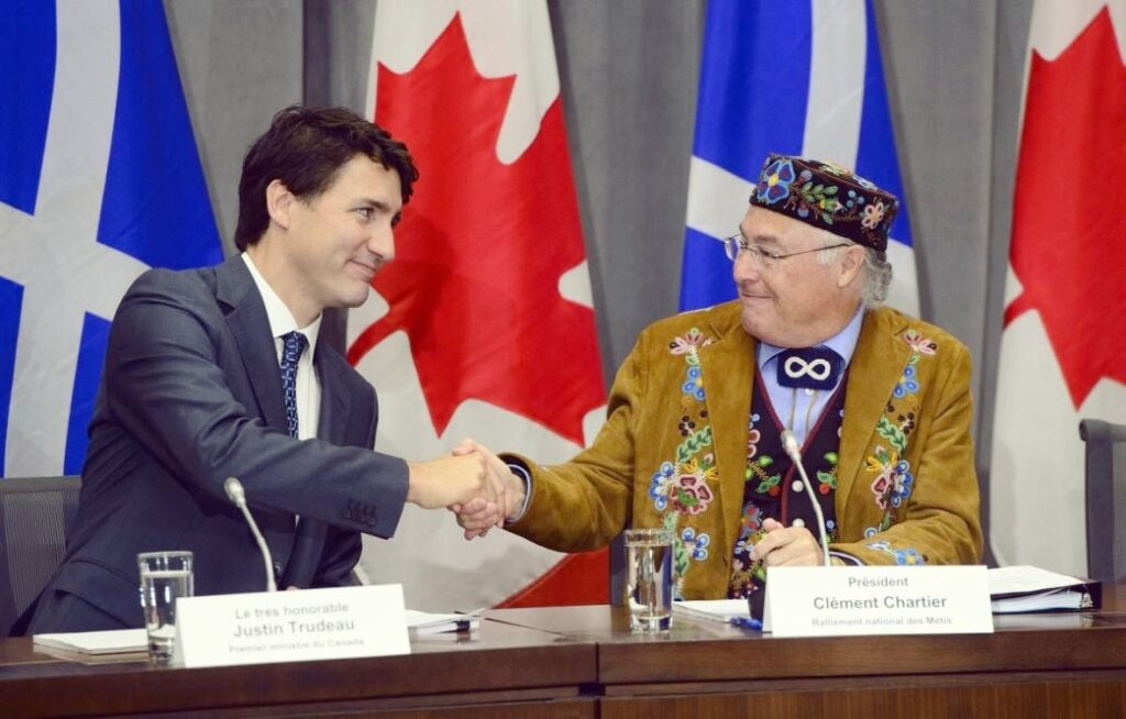 Metis President and Justin Trudeau, Prime Minister of Canada